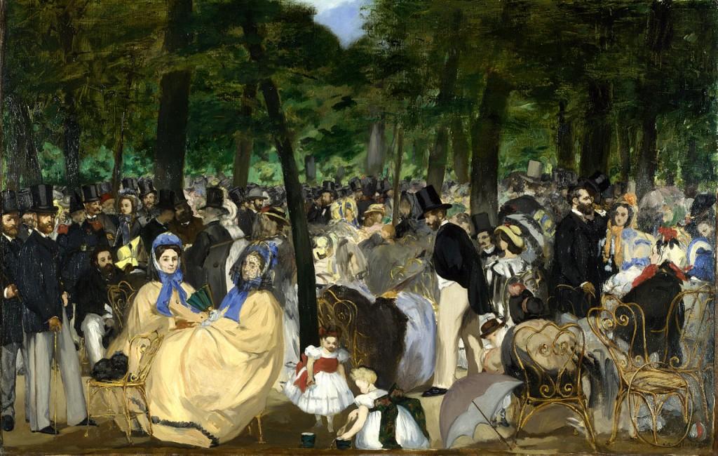 Édouard Manet, Musique aux Tuileries, 1862. Londra, National Gallery
