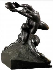 """Rugby e mito di Olimpia: """"Joueurs de foot-ball"""" di Duchamp-Villon"""