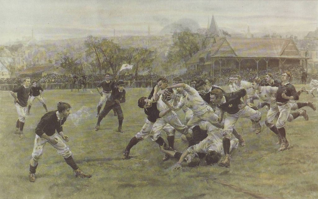 William Heysman Overend & Lionel Percy Smythe, A Football Match. England v Scotland, 1887.