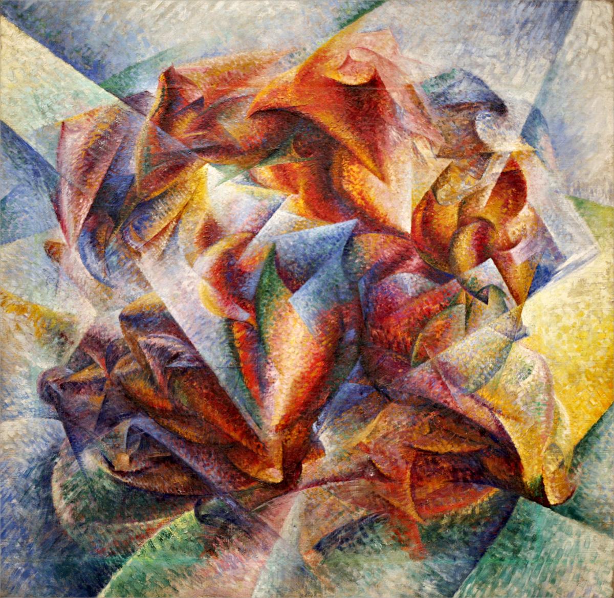 Boccioni Futurism Velocità + arte +...