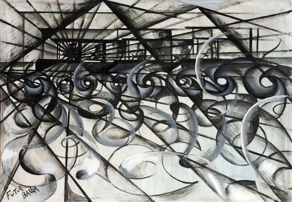 Giacomo Balla, Dinamismo + dispersione (Automobile in corsa), 1913-14