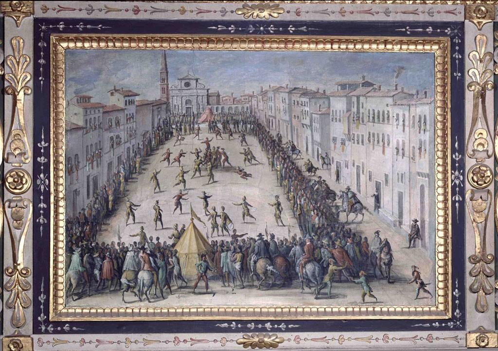 Giovanni Stradano, Gioco del calcio in piazza Santa Maria Novella, 1561-62