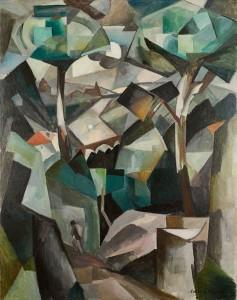 Albert Gleizes, Le Chemin, Paysage à Meudon (Paysage avec personnage), 1911. Collezione privata
