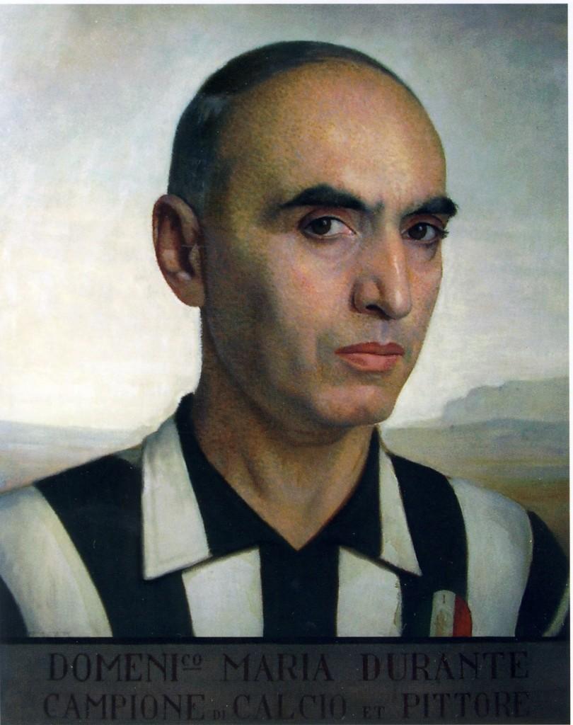 D.M. Durante - Autoritratto in maglia della Juventus, 1926-30 circa. Torino, Palazzo Graneri della Roccia (Circolo dei Lettori)
