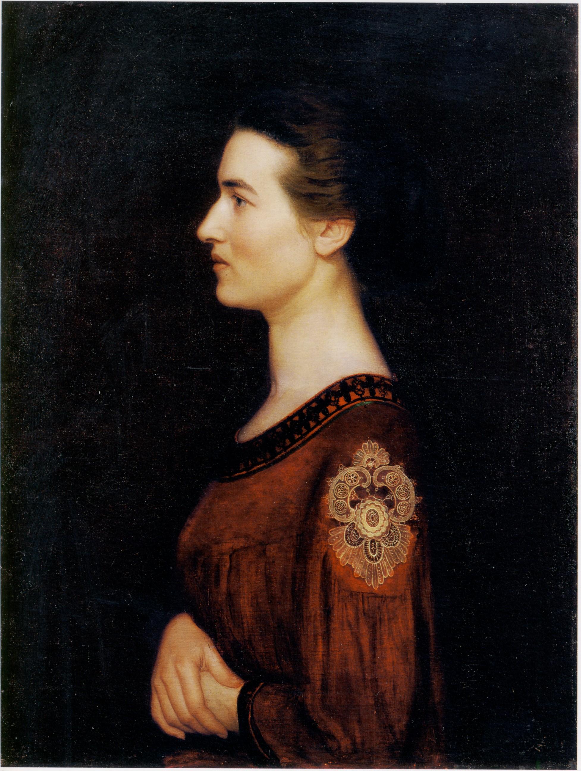 Domenico Maria Durante, Profilo, 1908. Torino, GAM. Olio su tela, cm 79 x 59