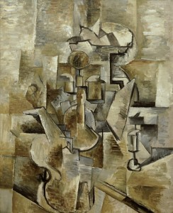 Georges Braque, Violin and Candlestick, 1910. San Francisco, Museum of Modern Art