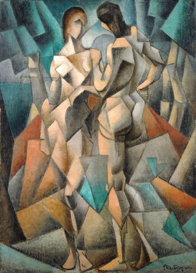 Jean Metzinger, Deux Nus, 1910-11. Göteborg, Konstmuseum