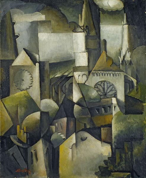 Albert Gleizes, La cathédrale de Chartres, 1912. Huile sur toile, 73,6 x 60,3 cm. Hannover, Sprengel Museum Hannover