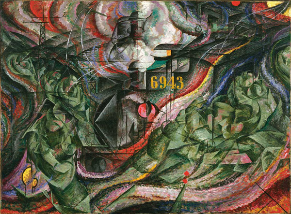 Umberto Boccioni, Stati d'animo. Gli addii, 1911. New York, Museum of Modern Art