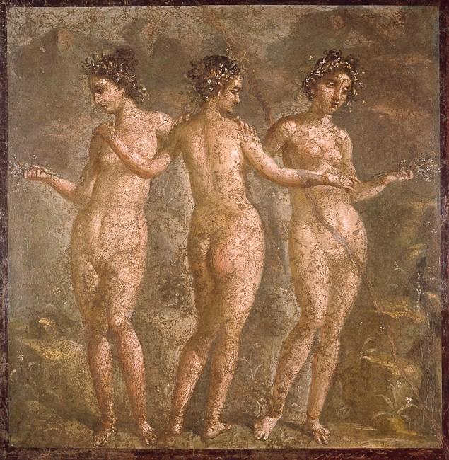 Le tre Grazie, I sec. d.C. Napoli, Museo Archeologico Nazionale