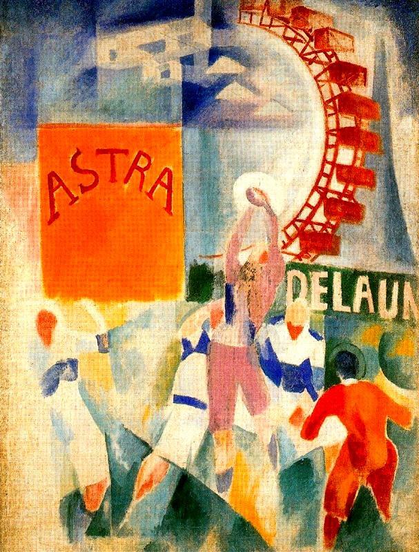 Robert Delaunay - L'Équipe de Cardiff, 1913. München, Bayerische Staatsgemäldesammlungen