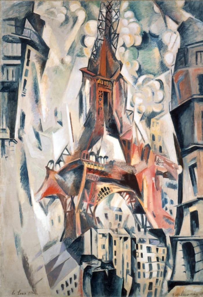 Robert Delaunay - Tour Eiffel, 1911. New York, Solomon R. Guggenheim Museum