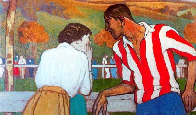 Aurelio Arteta, Dialogo en el campo de sport (particolare), 1913-17ca. Bilbao, Athletic Club de Bilbao