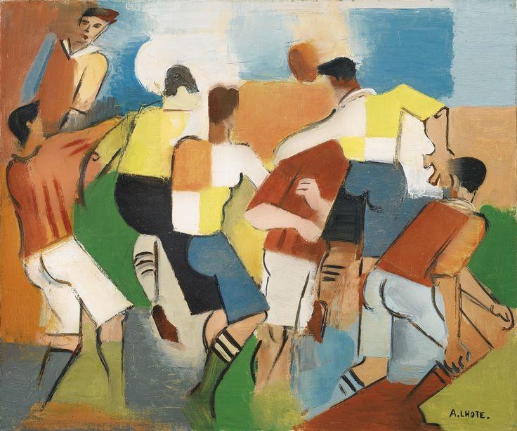 1918-andre-lhote-joueurs-de-football-olio-su-tela-cm-46x55-collezione-privata