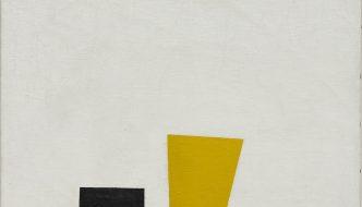 """Football y arte abstracto en la Rusia de los zares: """"Realismo pictórico de un jugador de fútbol (Masas de color en la cuarta dimensión)"""" de Malévich"""